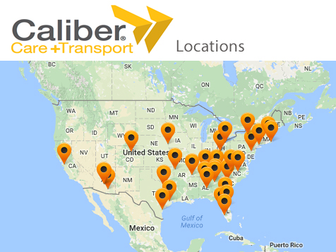 Caliber Care + Transport Franchise Locations