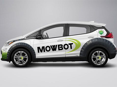 MowBot Franchise Service Vehicle