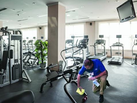 Jan-Pro Franchise Commercial Cleaner Cleaning Gym