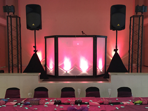 DJ Jason & Associates Franchising of America Party set up