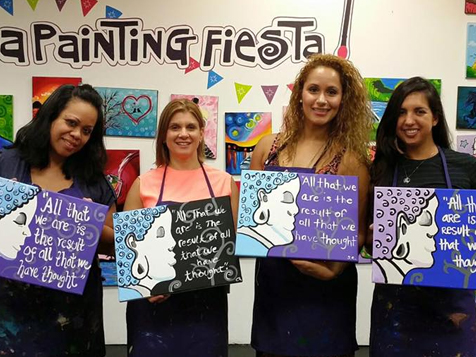 A Painting Fiesta Studio Franchise Painting fun with friends