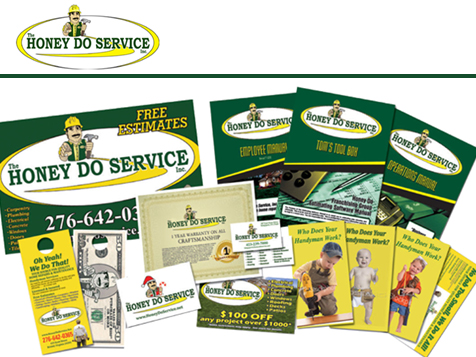 The HONEY DO SERVICE, Inc. Franchise marketing collateral