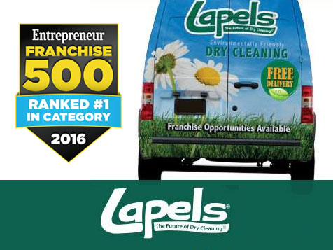 Lapels Dry Cleaning Franchise Ranked #1 in Category