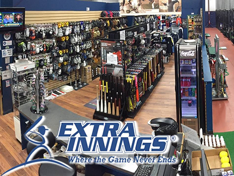 View of the Extra Innings franchise shop