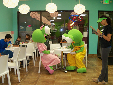 Cookie and Scoop, sweetFrog Franchise Mascots