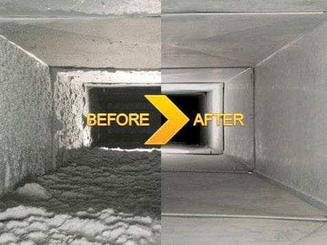 Action Duct Cleaning Franchise - Duct Before and After Cleaning