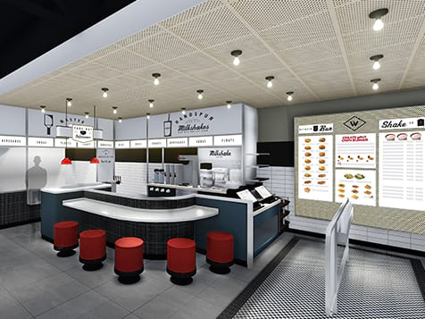 Wayback Burgers franchise interior