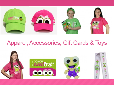 sweetFrog Franchise Merchandise