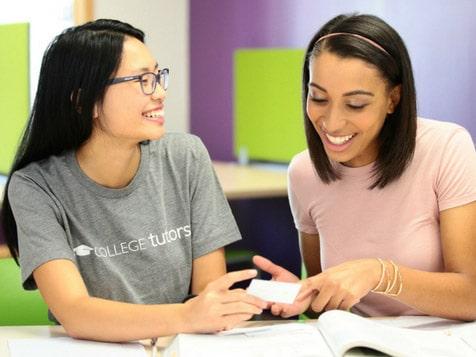 College Tutor Helping Student