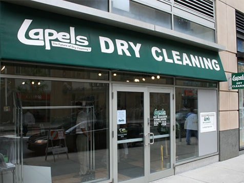 Outside a Lapels Dry Cleaning Franchise