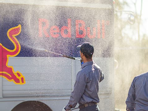 Superior Wash Franchise Washing Red Bull Truck