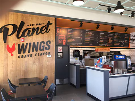 Planet Wings Franchise Interior