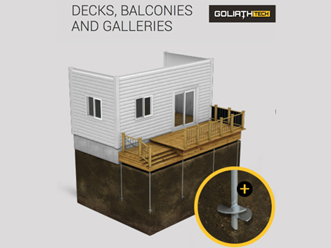 GoliathTech Corp Franchise Screw Piles for balconies