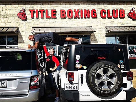 Outside a TITLE Boxing Club Franchise Location