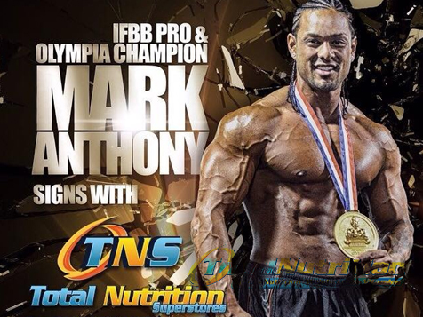 Total Nutrition Superstores® Franchise spokesman Mark Anthony