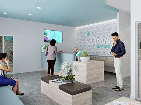 Lobby of a Sirius Day Spa Franchise