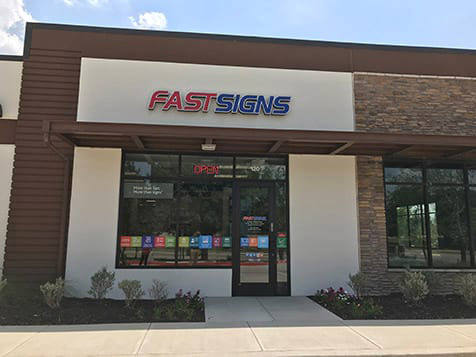 Outside a FASTSIGNS Franchise