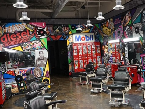 Diesel Barbershop Franchise Reception Desk