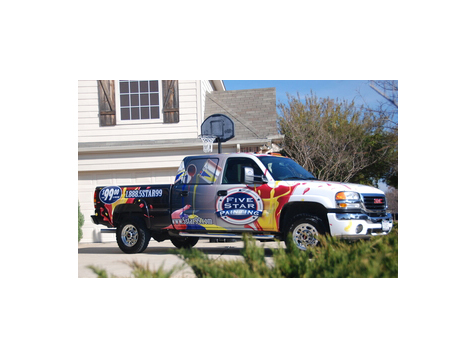 Five Star Painting Franchising Vehicle