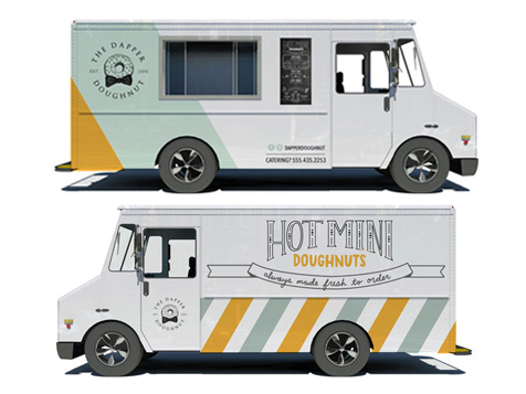 The Dapper Doughnut Franchise Vans
