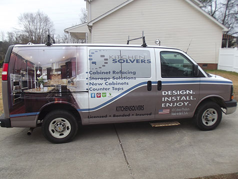 Kitchen Solvers Franchise Vehicle