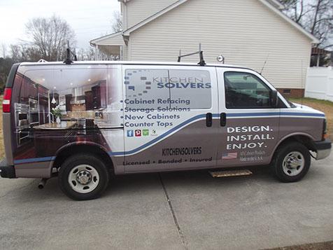 Kitchen Solvers Franchise Vehicle