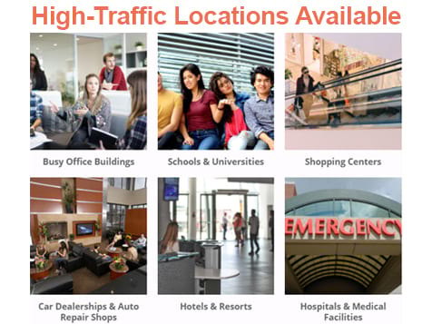 High-Traffic Areas for your Hot Beverage Company Business