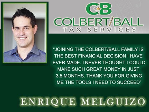 Testimonial from Colbert Ball Tax Service Franchise Owner