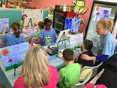 Painting event at sweetFrog Franchise