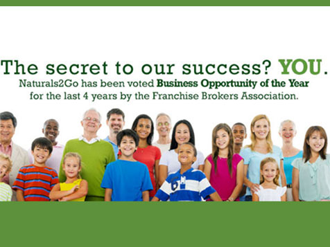 Naturals 2 Go voted business opportunity of the year