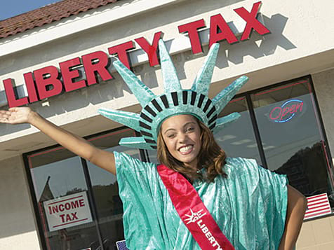 Liberty Tax Franchise Mascot