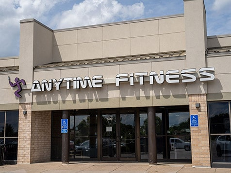Outside an Anytime Fitness Franchise