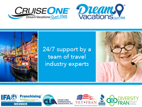 A CruiseOne franchise comes with 24-hour support