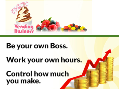 FroYo Vending Business - work your own hours