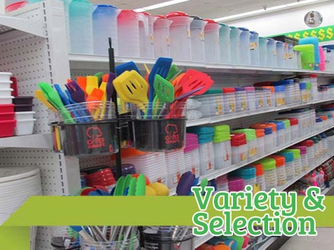 Dollar Store offers selection