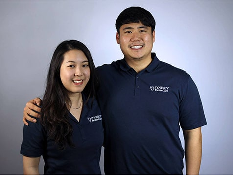SYNERGY HomeCare franchisee Edith Huang and Simon Yi