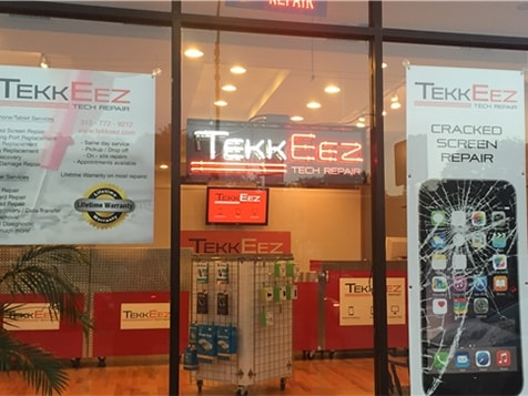 Outside a TekkEez Tech Repair Franchise