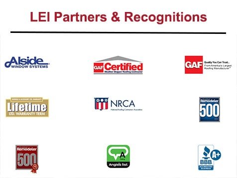 LEI Home Enhancements Recognitions