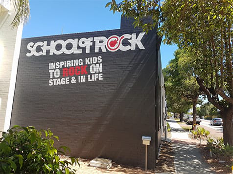 Outside a School of Rock Franchise Location