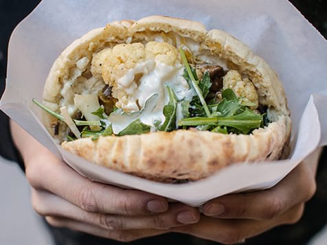 A Stuffed Pita at Taboonette