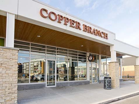 Outside a Copper Branch Franchise