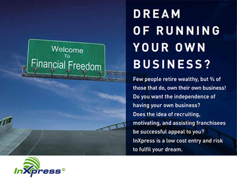Fulfill your dream of business ownership with InXpress