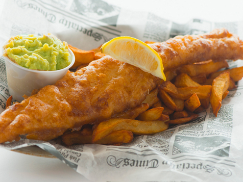 Authentic fish + chips at go brit! franchise