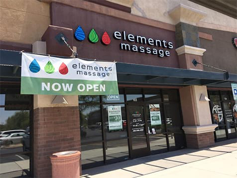 Outside an Elements Therapeutic Massage Franchise