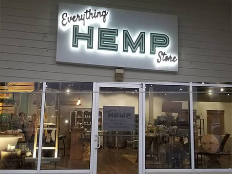Outside an Everything Hemp Store Franchise