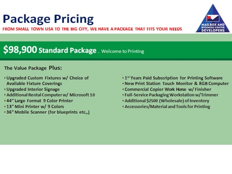Print, Mail and Business Center Developers Standard Package