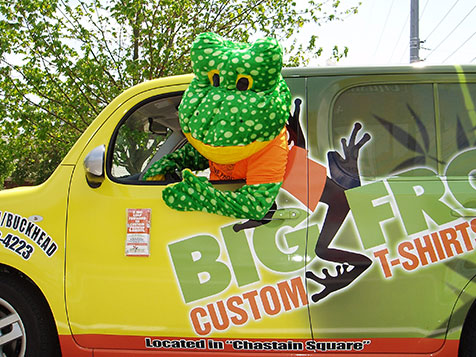 Big Frog Custom T-Shirt Franchise Frog and Vehicle