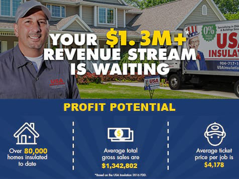 USA Insulation Franchise - $1.3m revenue stream