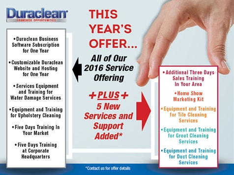 Get More Revenue Centers with a Duraclean Franchise