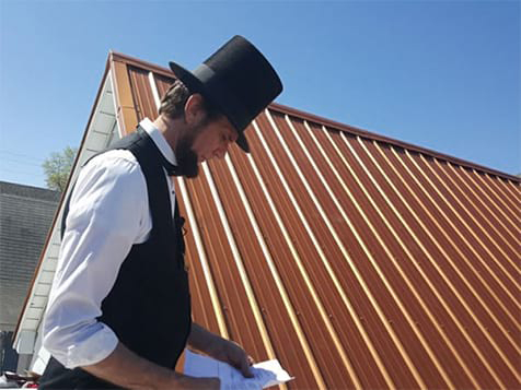 Abe Lincoln at Honest Abe Roofing